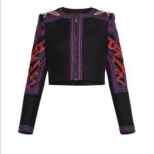 BCBGMaxazria Embroidered Cropped Gorgeous Jacket